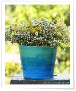 Blue Wash Cache Pot