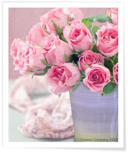 WEB - Violet Rainbow Cone Pot with Roses - SNAP